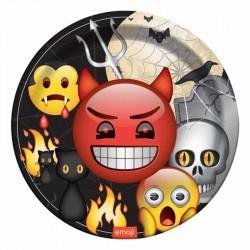 Korku Emoji Karton Tabak 23 cm 8'li