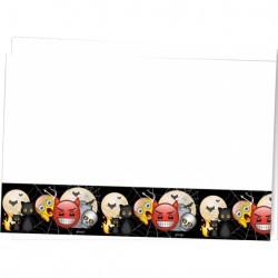 Korku Emoji Plastik Masa Örtüsü 120x180 cm