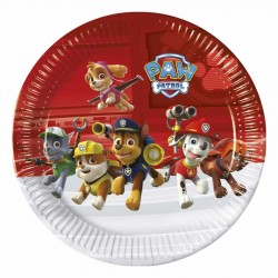 Paw Patrol Ready For Action Karton Tabak 23 cm 8'li