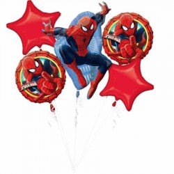 Spiderman Folyo Balon Buketi 5'li