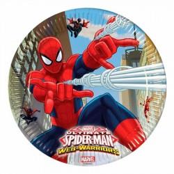 Spiderman Savaşçı Karton Tabak 23 cm 8'li
