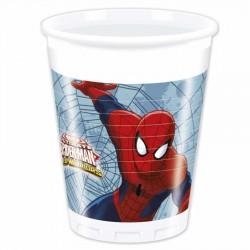 Spiderman Savaşçı Plastik Bardak 200cc 8'li