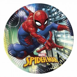Spiderman Team Up Karton Tabak 23 cm 8'li