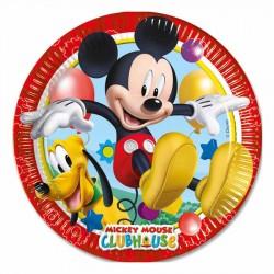 Mickey Playful Karton Tabak 23 cm 8'li