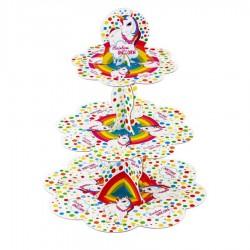 Rainbow Unicorn Cupcake Standı