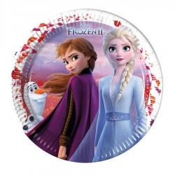 Frozen 2 Karton Tabak 23 cm 8'li