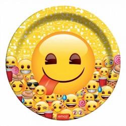 Emoji Dünyası Karton Tabak 23 cm 8'li