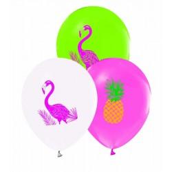 Flamingo Baskılı Balon 100'lü