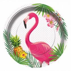 Flamingo Karton Tabak 23 cm 8'li