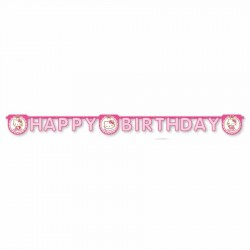 Hello Kitty Happy Birthday Harf Afiş