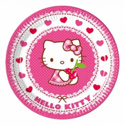 Hello Kitty Karton Tabak 23 cm 8'li