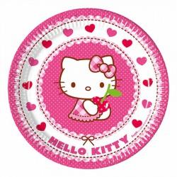 Hello Kitty Karton Tabak 23 cm 8'li