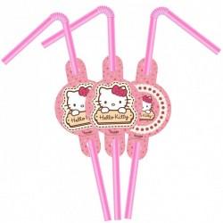 Hello Kitty Lisanslı Pipet 6'lı