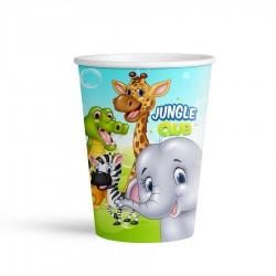 Jungle Club Karton Bardak 8'li
