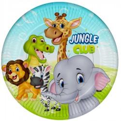 Jungle Club Karton Tabak 23 cm 8'li