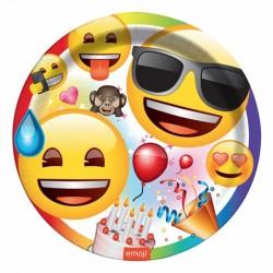Emoji Parti Karton Tabak 23 cm 8'li