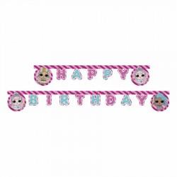 LOL Bebek Happy Birthday Harf Afiş