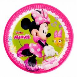 Minnie Mutlu Arkadaşlar Karton Tabak 23 cm 8'li