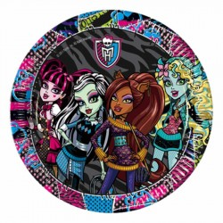 Monster High Karton Tabak 23 cm 8'li
