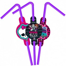 Monster High Lisanslı Pipet 6'lı