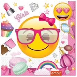 Süslü Emoji Kağıt Peçete 33x33 cm 20'li