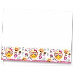 Süslü Emoji Plastik Masa Örtüsü 120x180 cm