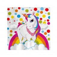 Unicorn Rainbow Kağıt Peçete 33x33 cm 16'lı
