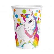 Unicorn Rainbow Karton Bardak 8'li