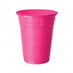 Fuşya Plastik Büyük Meşrubat Bardağı 8'li