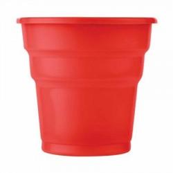 Kırmızı Plastik Meşrubat Bardağı 25'li