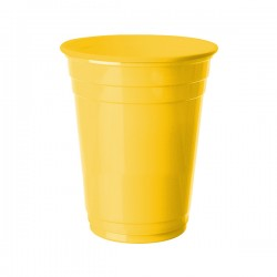 Sarı Plastik Büyük Meşrubat Bardağı 8'li