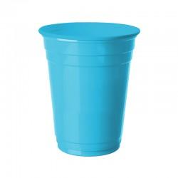 Açık Mavi Plastik Büyük Meşrubat Bardağı 8'li