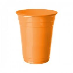 Turuncu Plastik Büyük Meşrubat Bardağı 8'li