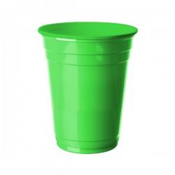 Yeşil Plastik Büyük Meşrubat Bardağı 8'li