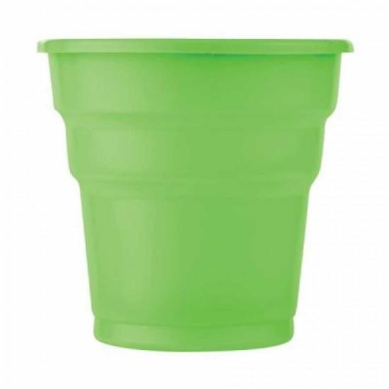 Yeşil Plastik Meşrubat Bardağı 25'li