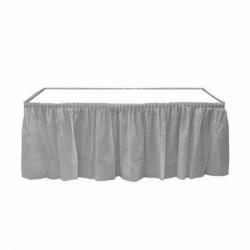 Gümüş Plastik Masa Eteği 75x426 cm
