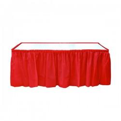 Kırmızı Plastik Masa Eteği 75x426 cm