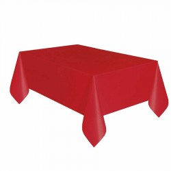 Kırmızı Plastik Masa Örtüsü 137x270 cm