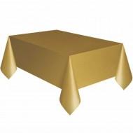 Altın Plastik Masa Örtüsü 137x270 cm