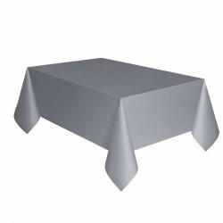 Gümüş Plastik Masa Örtüsü 137x270 cm