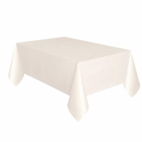 Krem Plastik Masa Örtüsü 137x270 cm