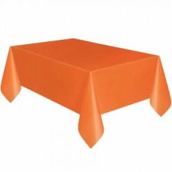 Turuncu Plastik Masa Örtüsü 137x270 cm
