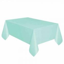 Mint Yeşili Plastik Masa Örtüsü 137x270 cm