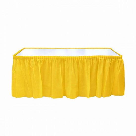 Sarı Plastik Masa Eteği 75x426 cm