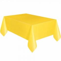 Sarı Plastik Masa Örtüsü 137x270 cm