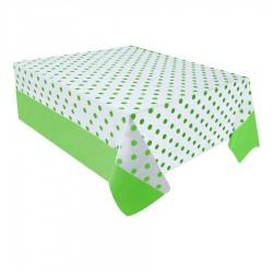 Yeşil Puantiyeli Plastik Masa Örtüsü 137x182 cm