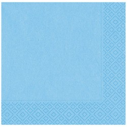 Açık Mavi Kağıt Peçete 33x33 cm 20'li