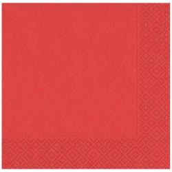 Kırmızı Kağıt Peçete 33x33 cm 20'li