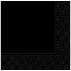 Siyah Kağıt Peçete 33x33 cm 20'li