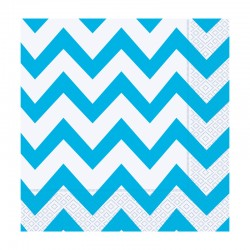 Açık Mavi Zigzag Kağıt Peçete 33x33 cm 20'li